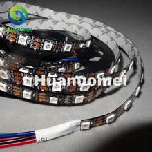 4m 60LEDs/m DC5V addressable SK6812 led strip light,non-waterproof;IP20,6SK6812/M 60pixels;BLACK PCB - Huanuo Mei LED Store store