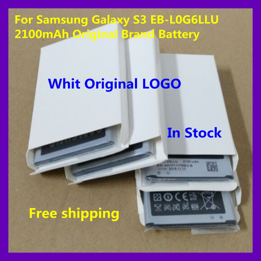 1PCS Original Brand Rechargeable samsung galaxy s3 battery EB-L1G6LLU For Samsung Galaxy S3 i9300 i9308 2100mAh battery(China (Mainland))