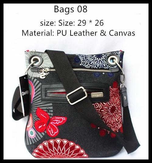 2015 spain brand Desigual women bag women genuine leather handbag crossbody Shoulder Messenger Bags bolsas femininas travel bag(China (Mainland))