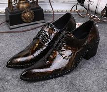 New Vintage Style Luxury Men Patent Leather Shoes Factory Moccasins Lace Up Classic Oxford Shoes Mens Italian Dress Shoes(China (Mainland))