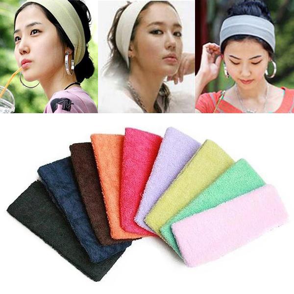 Women Hair Band Headband Elastic Sports Headbands Towel 7 Colors(China (Mainland))