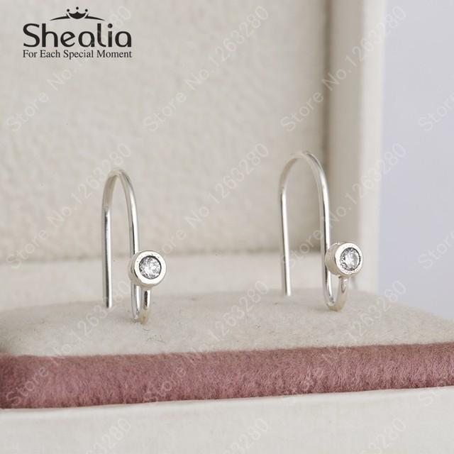 2015 новый стерлингового серебра 925 ясно циркон серьги крючки европейский ювелирных украшений женщины серьги DIY аксессуары EAR010