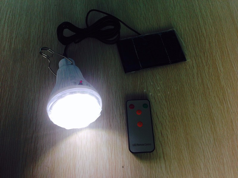 Indoor/Outdoor Dimmable DC6V 20Led 2.5W remote control solar LED Light Camping handing lamp +1W solar panel