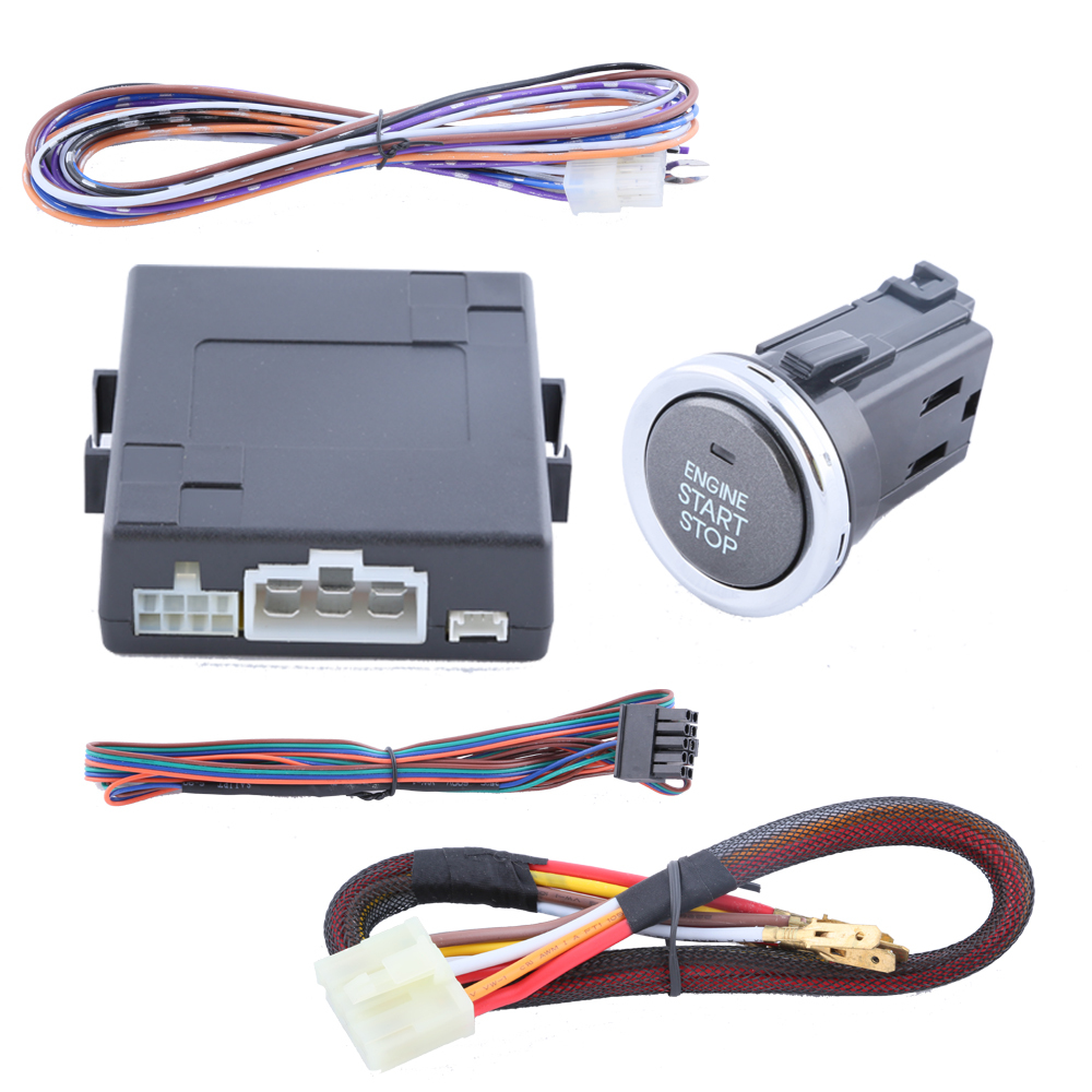 Good quality push button start kit support car alarm system, remote engine start/stop function and easy to install(China (Mainland))