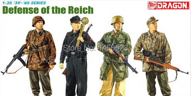 DRAGON 1/35 scale model plastic scale crew man 6694 DEFENSE OF THE REICH Assembly Model kit Modle building scale model kits(China (Mainland))