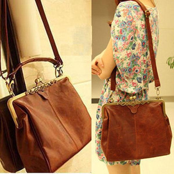 Tinkin Women Handbag Brand Women Messenger Bags Europe Style Retro PU Leather Shoulder Bag Fashion Women Bags(China (Mainland))