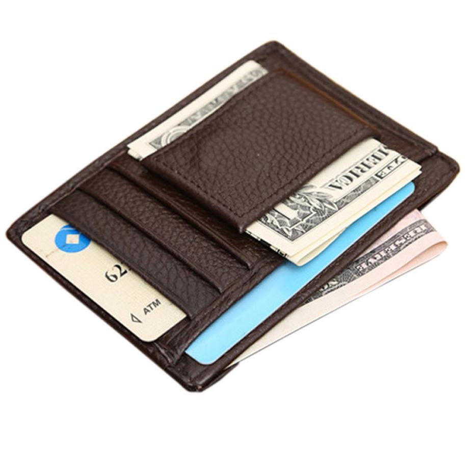 Pu Leather Money Clip Wallet Men Famous Brand Cash Purse