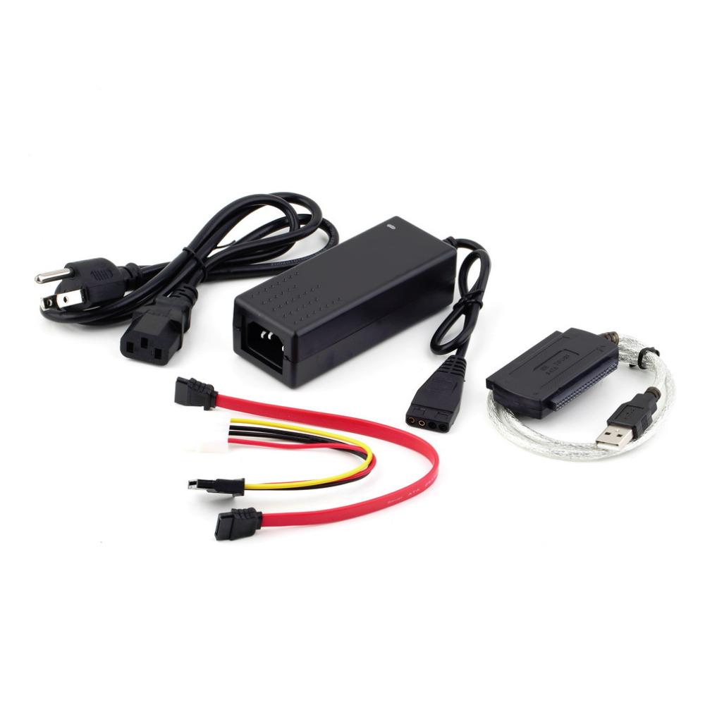 Hot Worldwide USB 2.0 to IDE SATA S-ATA 2.5 3.5 HD HDD Hard Drive Adapter Converter Cable(China (Mainland))