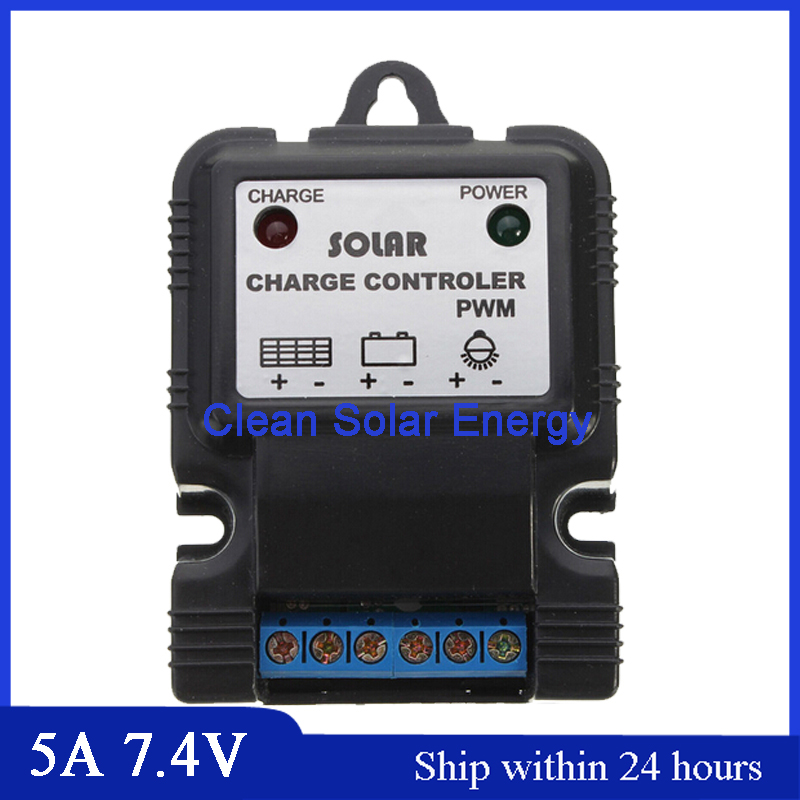 Wholesale Price 10PCS Smart Control 5A 7.4V Solar charger controller PWM type Lawn lamp controller <br><br>Aliexpress