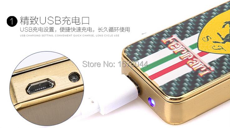 ถูก E4078 Windproofเบาu ltrathin USBชาร์จแฟชั่นระดับไฮเอนด์สีพิมพ์บุหรี่อิเล็กทรอนิกส์จัดส่งฟรี