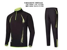 Adult Child Soccer Set Men Football Training Suit Kids Half Zipper Running Jerseys Pants Black Blue Football Training Pants 5XL(China (Mainland))