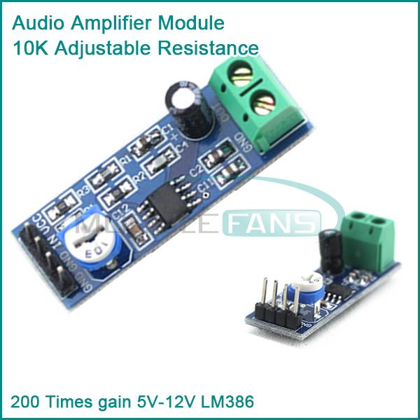 LM386 Audio Amplifier Module High Gain Open