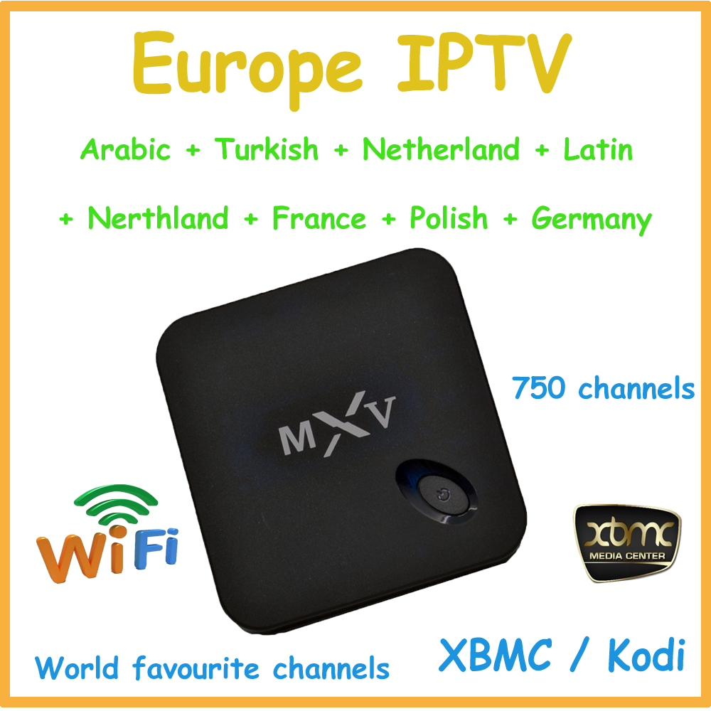 MXV quad core s805 andriod TV box ,support XBMC ,support 750 channels Arabic IPTV box,Europe IPTV,World IPTV(China (Mainland))