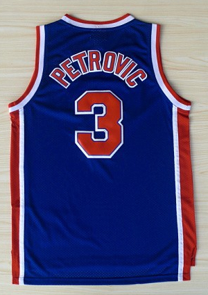 2014new Fast Free Shipping Drazen Petrovic#3 Basketball Jersey top quality, New Meterial Rev 30 Embroidery sport Jersey(China (Mainland))