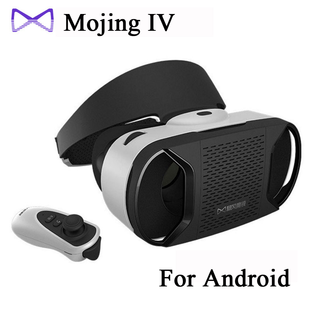 [Genuine]Baofeng Mojing IV 4 Head Helmet 3D Glasses Virtual Reality VR Rift Box for 4.7-6 inch Android Bluetooth Controller(China (Mainland))