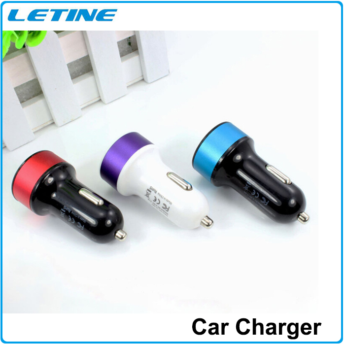 2015 Car Charger Adapter Cigarette Lighter Auto Universal Dual USB Port Car Charger For iPhone Sumsang And All Mobile Phones(China (Mainland))