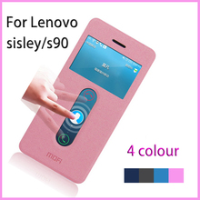 For Lenovo Sisley S90 Leather Case Hight Quality Stand Case For Lenovo S90 Open Window Pu Leather Case For Lenovo s90