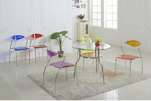 Free shipping Acrylic chair , plexiglass clear colored office chair ,2pcs/lot(China (Mainland))