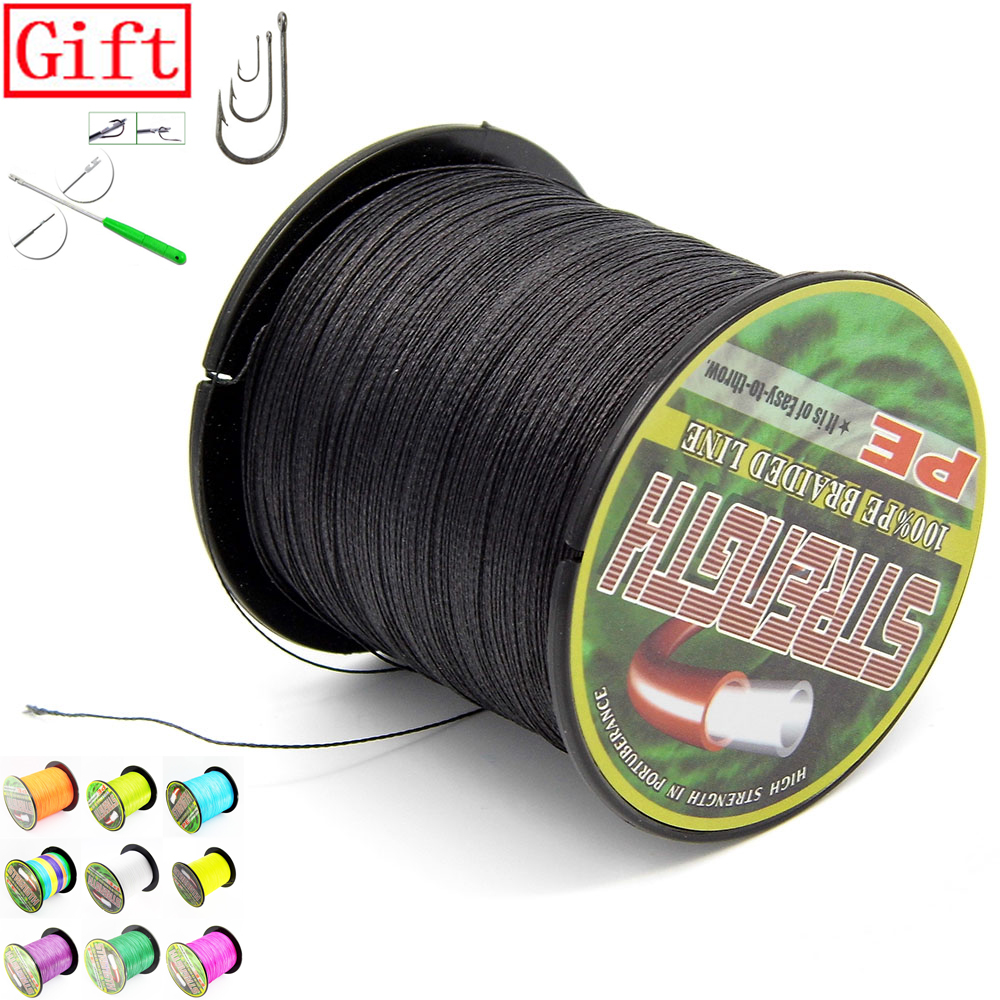Гаджет  300M PE Braided crap Fishing Line 6 8 10 20 30 40 50 to 70 80LB Green White black multi orange dyneema fishing line None Спорт и развлечения