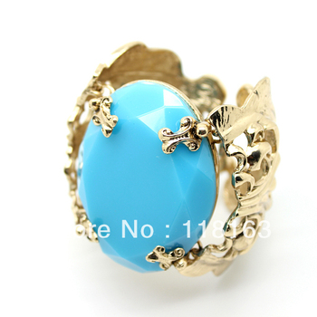 2013 New fashion Anna dello russo blue gem exaggerated bracelet bangles jewelry ,free shipping