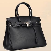Sac a main 2015 donne di modo borse delle donne marche famose signore di sacchetto di cuoio nero top-handle borse sac femme(China (Mainland))