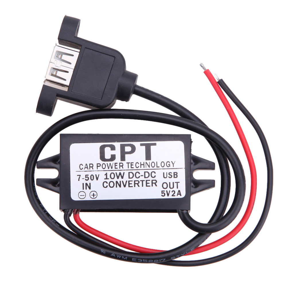 CPT-HUL-5 Vehicle Waterproof Power Supply Non-isolated Buck Module (Single USB Female With Mounting Ears) For Car device E#A3(China (Mainland))