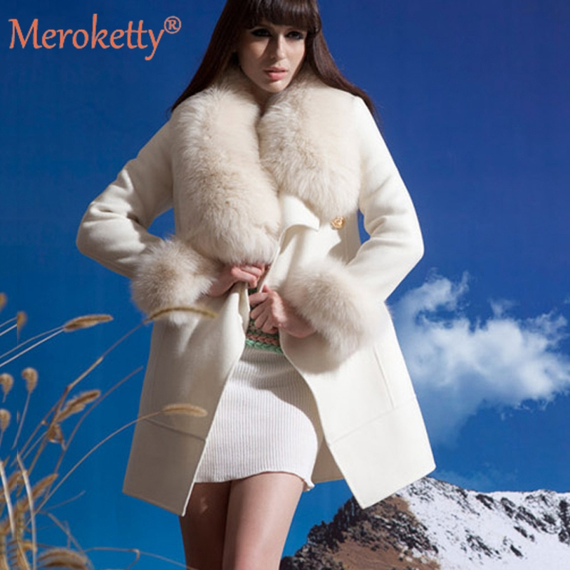 arealna winter white faux fur 28 images sleeve wedding  : High Quality Women s Luxury Wool Faux Fur Collar White Winter Trench Coat for Women Wool from ww.mobileinterview.org size 800 x 800 jpeg 338kB