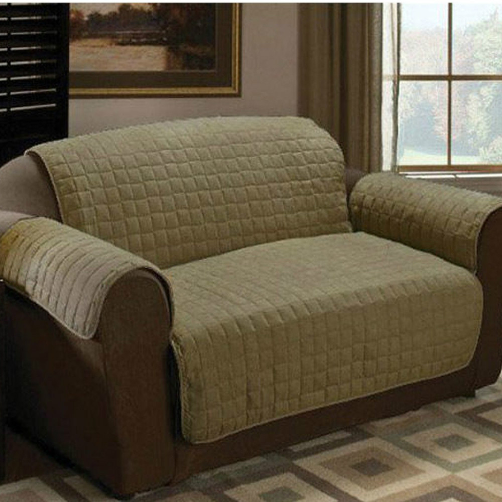 Micro Quilted Suede Furniture Protector Slip Cover Throw Sofa Sage In Sofa Cover From Home