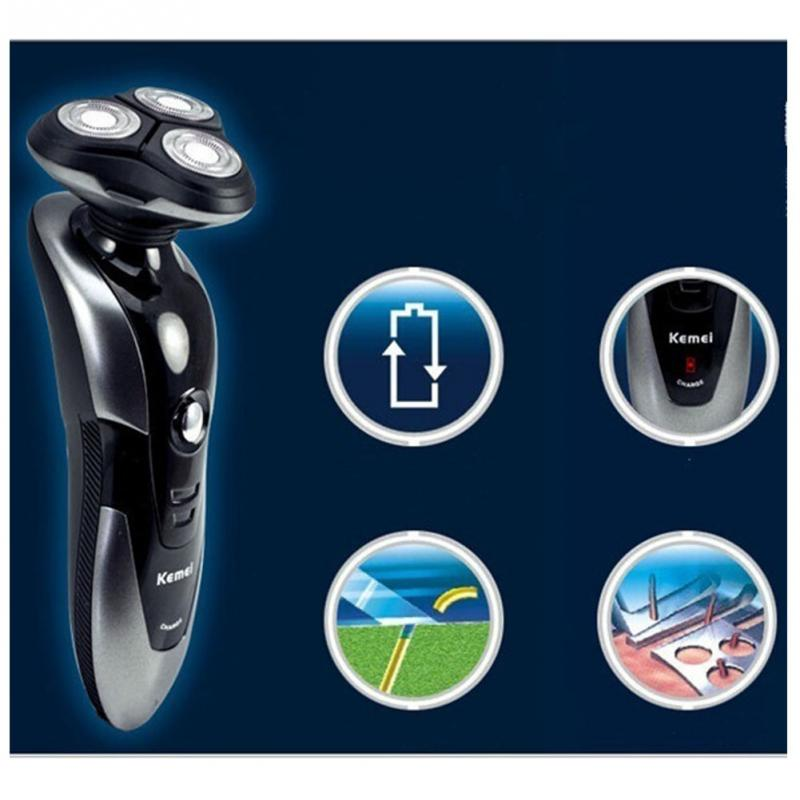 New 3D Mens Rechargeable Washable Cordless Rotary Electric Shaver Hair Razor Trimmer(China (Mainland))