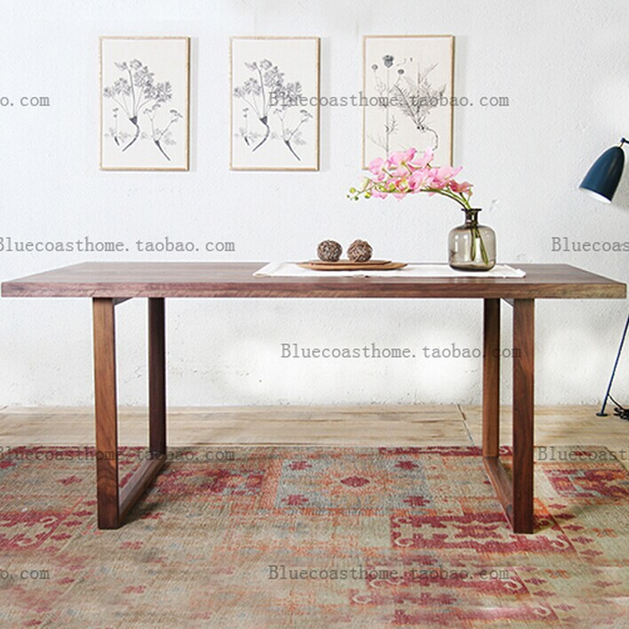 Nordic Art Style Solid Wood Ikea Dining Table Dining Table Desk Long Table Conference Table