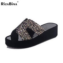 Buy Women Shoes Women Sandals Wedge Heels Platform New Design Slippers High Summer Casual Fashion Party Footwear Size 36-40 for $13.86 in AliExpress store