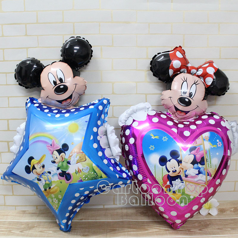 1pc/lot large heart minnie balloon mickey star foil ballon for children's toys birthday party decoration globos for baby shower(China (Mainland))