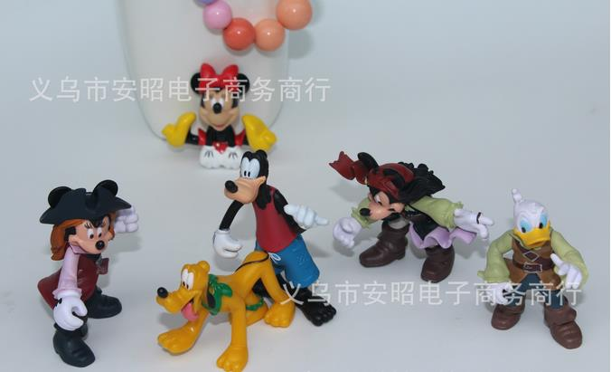 20pcs/lot kids toys, famous classic western cartoon anime toy figures 4-7cm, birthday gift for children(China (Mainland))