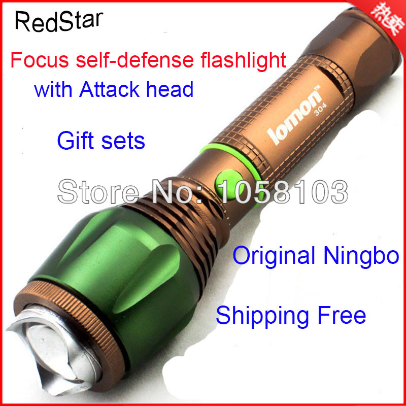 [RedStar] 10PCS/LOT Rechargeable led flashlight focusing 5W anti-glare attack head self-defense flashlight Shipping Free<br><br>Aliexpress
