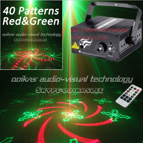 40 Patterns Luces Discoteca Laser Professional Stage Lighting Red Green Laser Disco Party Dj Laser Lights For Sale(China (Mainland))