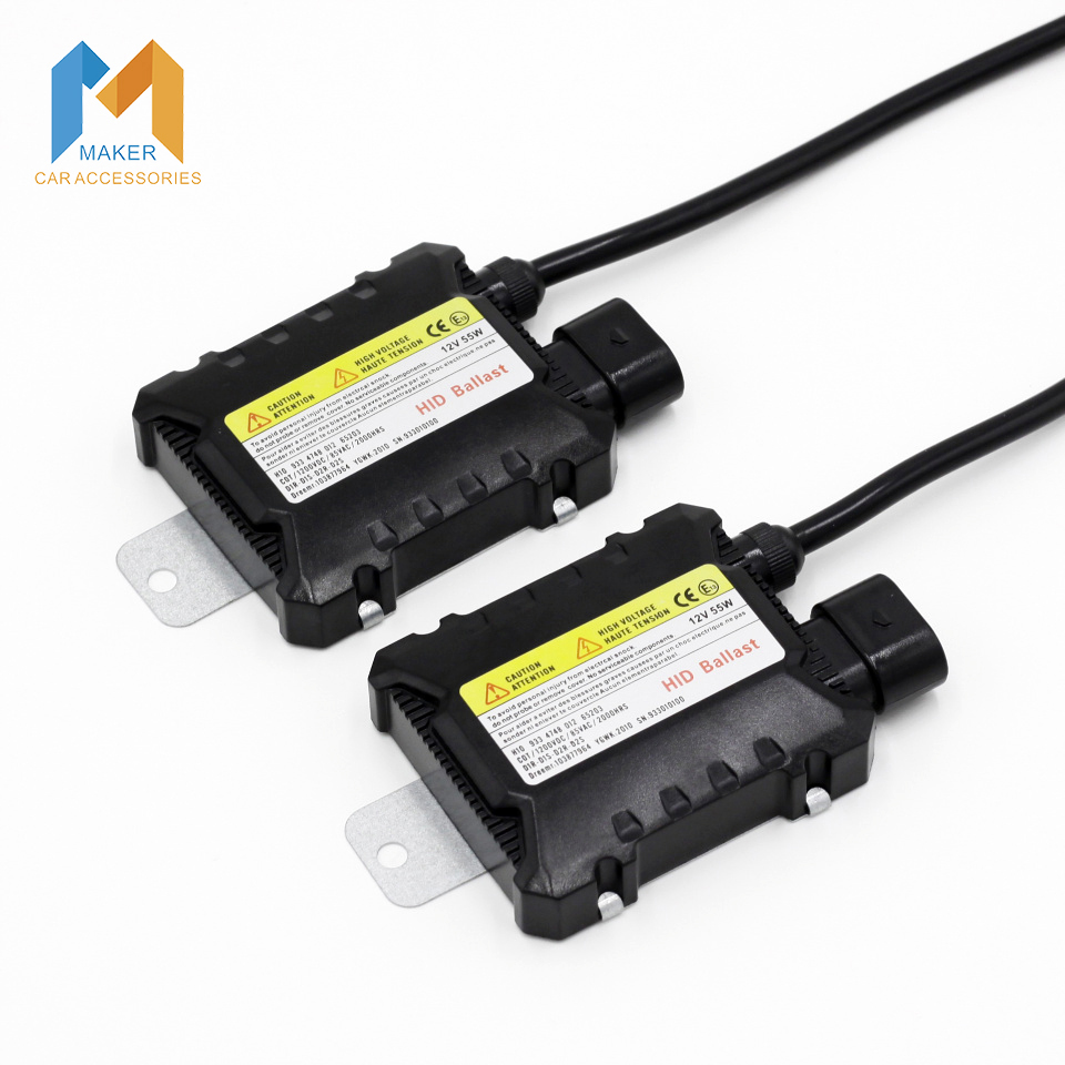 Newest 2 Pieces Ultra-Slim 12V 55W Digital HID Ballasts Waterproof Use For HID Xenon Conversion Kit H1 H3 H4 H7 H11 9005 9006(China (Mainland))