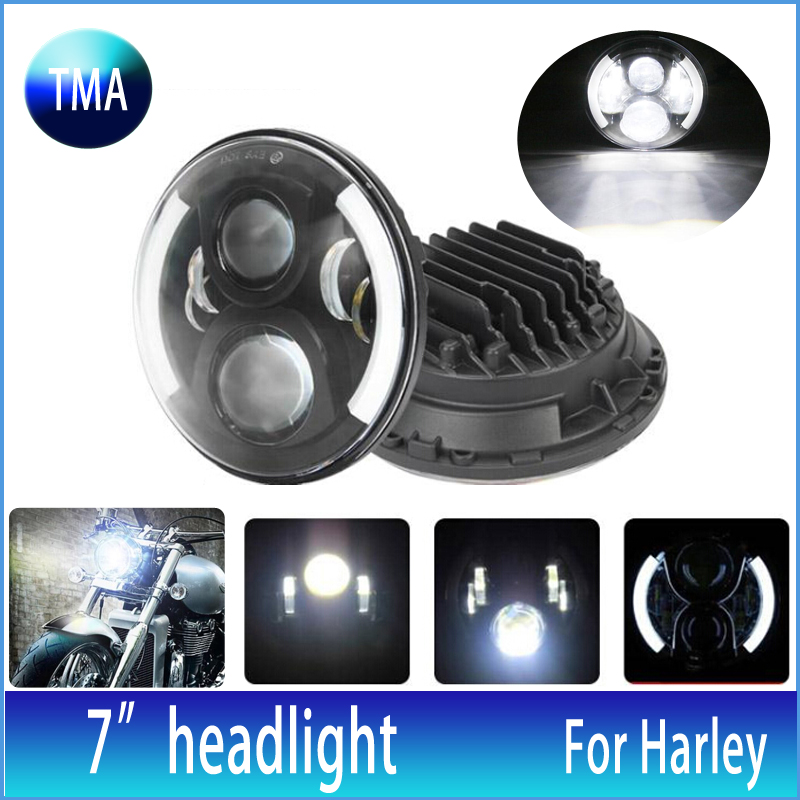 7 Round OSRAM Daymaker Projector Seal Beam Hi-Lo Motorcycle LED Headlight PAR56 60W For Harley FLD 12~13 Trike models 2009~2013<br><br>Aliexpress