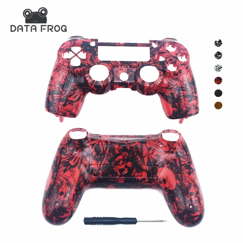 for Playstation 4 Shell Housing Covers for PS4 Front and back Game Shells Hydro dipped Designs Replacement Plastic Case for PS4 Gamepad  (1)