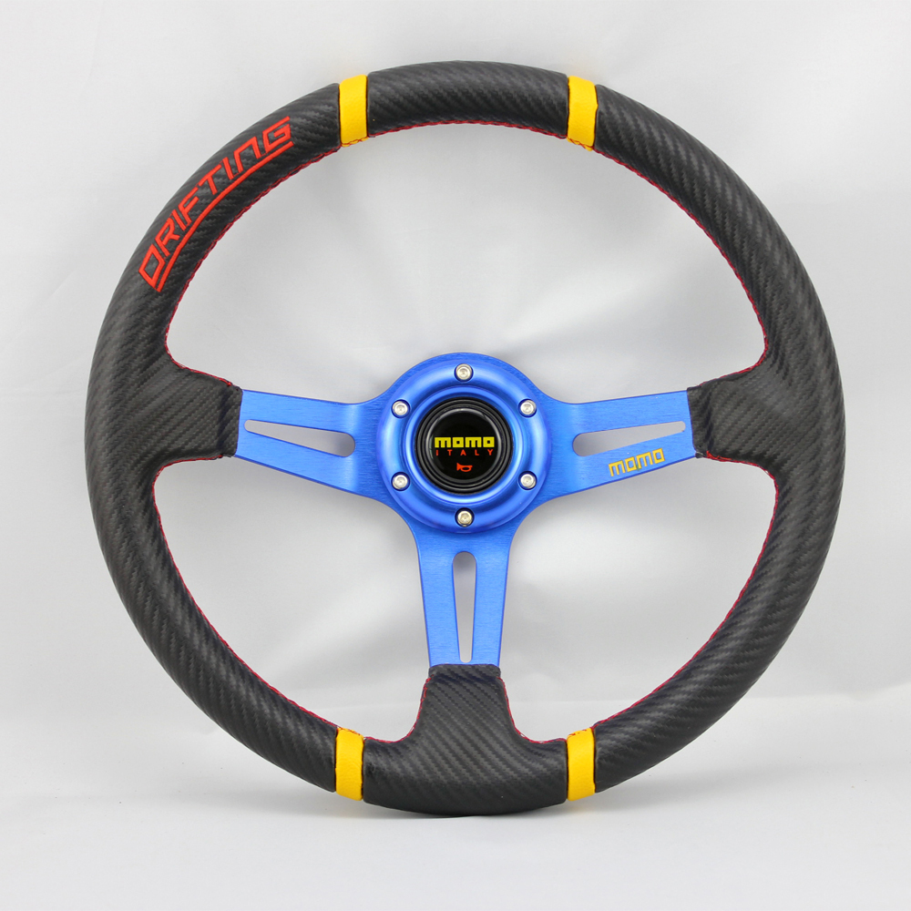 Free Shipping For Car Modified Steering Wheel Automobile Race Steering Wheel Momo Steering PVC 14 Inch XH4126(China (Mainland))