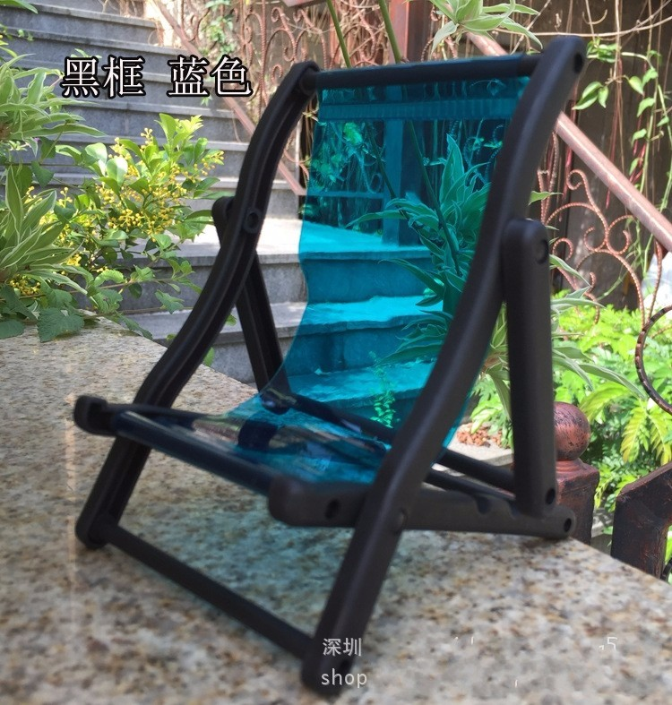 2 pcs Lounge Seaside Chair mini doll furnishings For barbie doll 1:6 Scale Foldable Deckchair Dolls Home