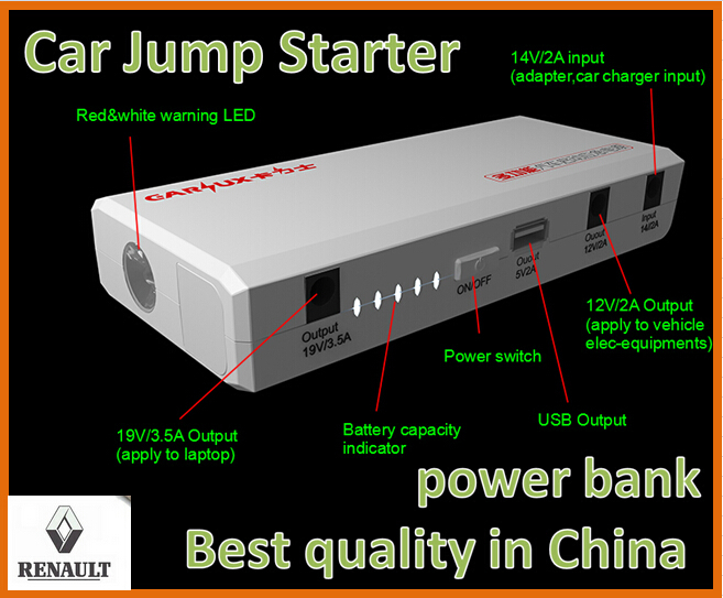 Best quality 12000mAh Multi-Function Car Battery Car Jump Starter  Power Bank for Renault Fluence Megane  Koleos Scenic VelSatis<br><br>Aliexpress