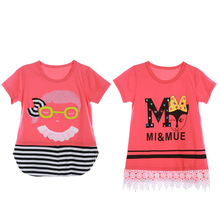 Buy Girl T-shirt 5Y Girls Tees Shirts Children Blouse T-shirts Big Sale Super Kids Summer Clothes Cartoon Print Pink for $7.81 in AliExpress store