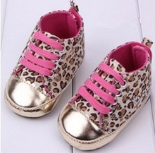 Free Shipping 1 pair leopard Sports Brand BABY Sneakers KIDS Shoes Cheap Boy/Girl soft shoes,  slip-resistant  toddler shoes(China (Mainland))