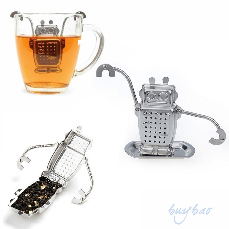 Manufacturer Direct Tea Infusers Stainless Steel Cute Tea Robot Infuser Recyclable Tea Strainers Tea Tool(China (Mainland))