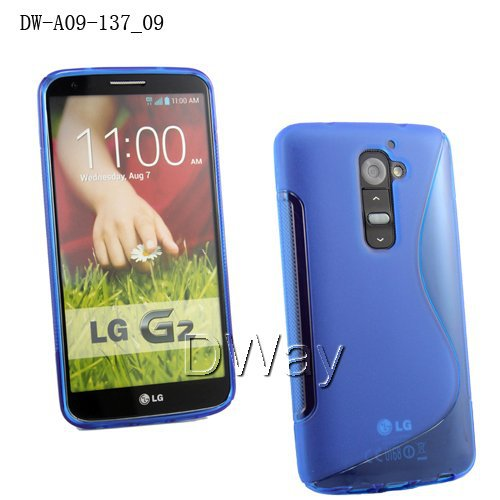 TPU S Line Gel Rubber Soft Back Cover Case For LG G2 D801 Cellphone Case 100PCS/LOT Wholesale(China (Mainland))