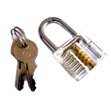2016 Modern Transparent Design Visible Pick Cutaway Mini Practice View Padlock Lock Training Skill For Locksmith(China (Mainland))