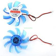 12V 2 Pin 9 Blades PC Graphics Video VGA Card Heatsink Cooler Cooling Fan 75mm