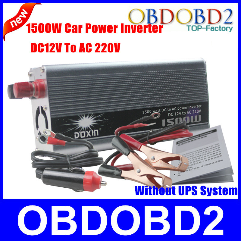 Best Quality Doxin 1500 Watt Power Inverter With USB Port 1500W DC 12V To AC 220V For Home Electrical /Car (Under 220V )(China (Mainland))