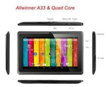 cute 7 inch Q88 Allwinner A33 Quad Core 512MB/4GB Android 4.4.2 Kids Tablet PC HD Screen 1024*600 Dual Camera Free Shipping