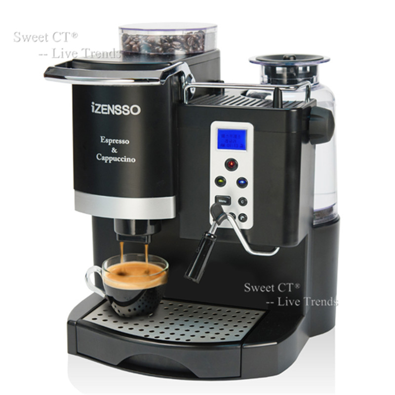 Korea Brand 20BAR Automatic Espresso Machine Coffee Maker with Grind Bean and Froth Milk for Office or Small Coffee Shop Using(China (Mainland))